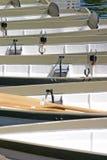 Barcos de fila en el río Dee Foto de archivo