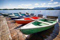 Barcos de fileira Imagem de Stock