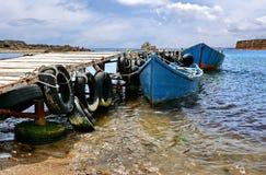 Barcos de Fising no Mar Negro imagem de stock