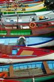 Barcos de Garda do lago fotos de stock