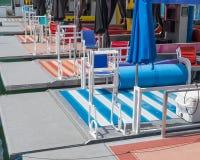 Barcos de la cabaña para el alquiler Fotos de archivo libres de regalías