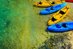Barcos de la canoa Fotos de archivo libres de regalías