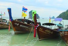 Barcos de la cola larga Fotografía de archivo libre de regalías