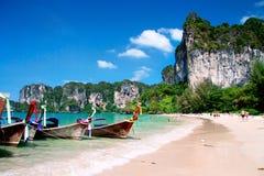 Barcos de la cola larga, Krabi imagen de archivo libre de regalías