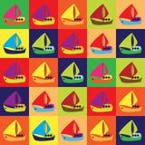 Barcos de la historieta Fotos de archivo