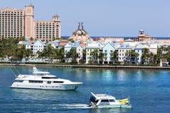 Barcos de la isla del paraíso Imágenes de archivo libres de regalías