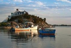 Barcos de la langosta Imagen de archivo
