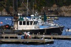 Barcos de la langosta Fotografía de archivo libre de regalías