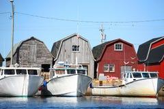 Barcos de la langosta Fotos de archivo libres de regalías
