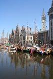 Barcos de la parte inferior plana fotografía de archivo