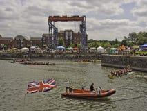 Barcos de la seguridad Fotografía de archivo