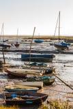 Barcos de Leigh con marea baja Foto de archivo libre de regalías