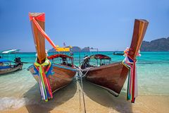 Barcos de Longtail, Tailândia Foto de Stock Royalty Free