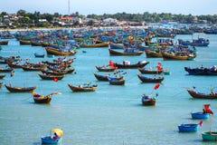 Barcos de los pescadores Fotografía de archivo
