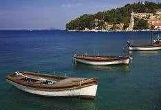 Barcos de madeira   Imagem de Stock