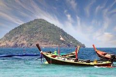 Barcos de madeira tailandeses tradicionais Imagem de Stock Royalty Free