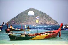 Barcos de madeira tailandeses tradicionais Foto de Stock Royalty Free
