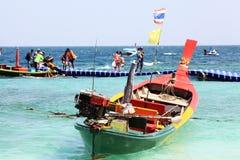 Barcos de madera tailandeses tradicionales Fotos de archivo