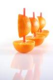Barcos de mandarines Fotografía de archivo libre de regalías