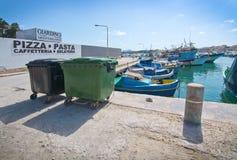 Barcos de Marsaxlokk Foto de archivo libre de regalías