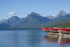 Barcos de McDonald del lago Fotografía de archivo