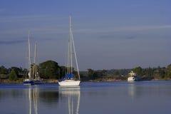 Barcos de navegación Imagen de archivo