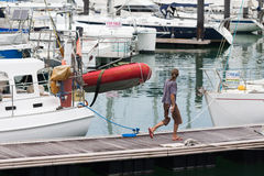Barcos de navegación atracados Fotografía de archivo libre de regalías