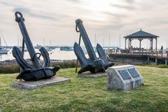 Barcos de navegación de las anclas Marina Punta del Este Uruguay Foto de archivo libre de regalías