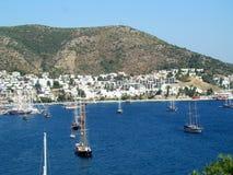 Barcos de navegación en Bodrum-Turquía foto de archivo libre de regalías