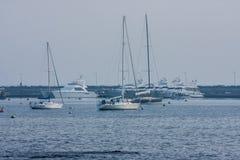 Barcos de navegación Marina Punta del Este Uruguay Fotos de archivo libres de regalías