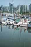 Barcos de navegación, puerto del carbón, Vancouver Imagen de archivo libre de regalías