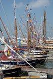 Barcos de navegación viejos de Gaff Imágenes de archivo libres de regalías
