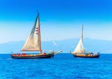 Barcos de navigação de madeira clássicos Imagens de Stock
