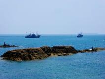Barcos de navigação de Qingdao Imagem de Stock