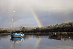 Barcos de navigação no rio Avon imagem de stock royalty free
