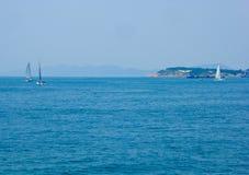 Barcos de navigação olímpicos de Qingdao Imagem de Stock