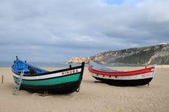Barcos de Nazare fotografia de stock