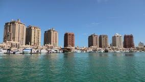 Barcos de Oporto Arabia Doha almacen de video