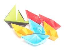 Barcos de Origami Imagem de Stock Royalty Free