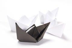 Barcos de papel Foto de Stock Royalty Free