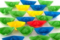 Barcos de papel Fotografía de archivo