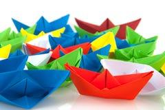 Barcos de papel Fotos de archivo