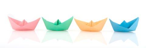 Barcos de papel Foto de archivo