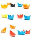 Barcos de papel Fotos de Stock Royalty Free