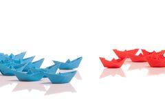 Barcos de papel Imagens de Stock