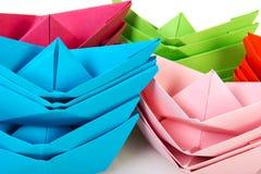 Barcos de papel Imagens de Stock Royalty Free