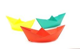 Barcos de papel Imágenes de archivo libres de regalías