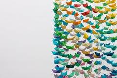 Barcos de papel Imagem de Stock Royalty Free