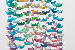 Barcos de papel Fotografia de Stock