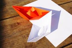 Barcos de papel Foto de Stock